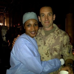 On set with Gord Rand (Combat Hospital)