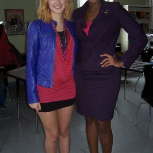 On set with Rachel Thevenard (Skins USA)
